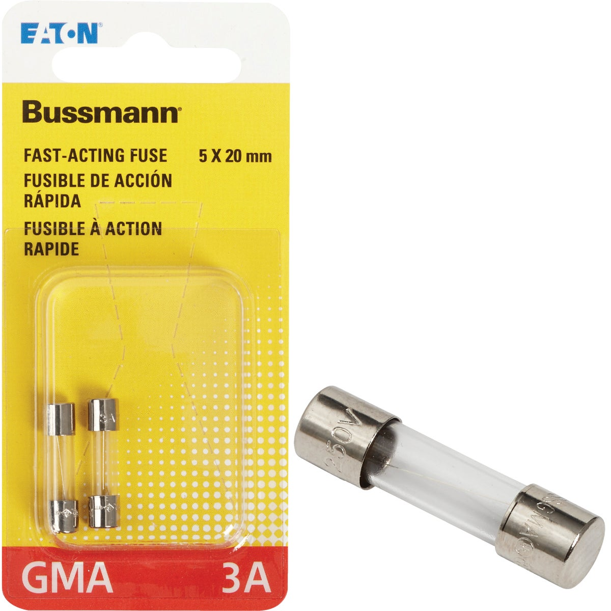 3A FAST ACTING FUSE - BP/GMA-3A by Bussmann Cooper