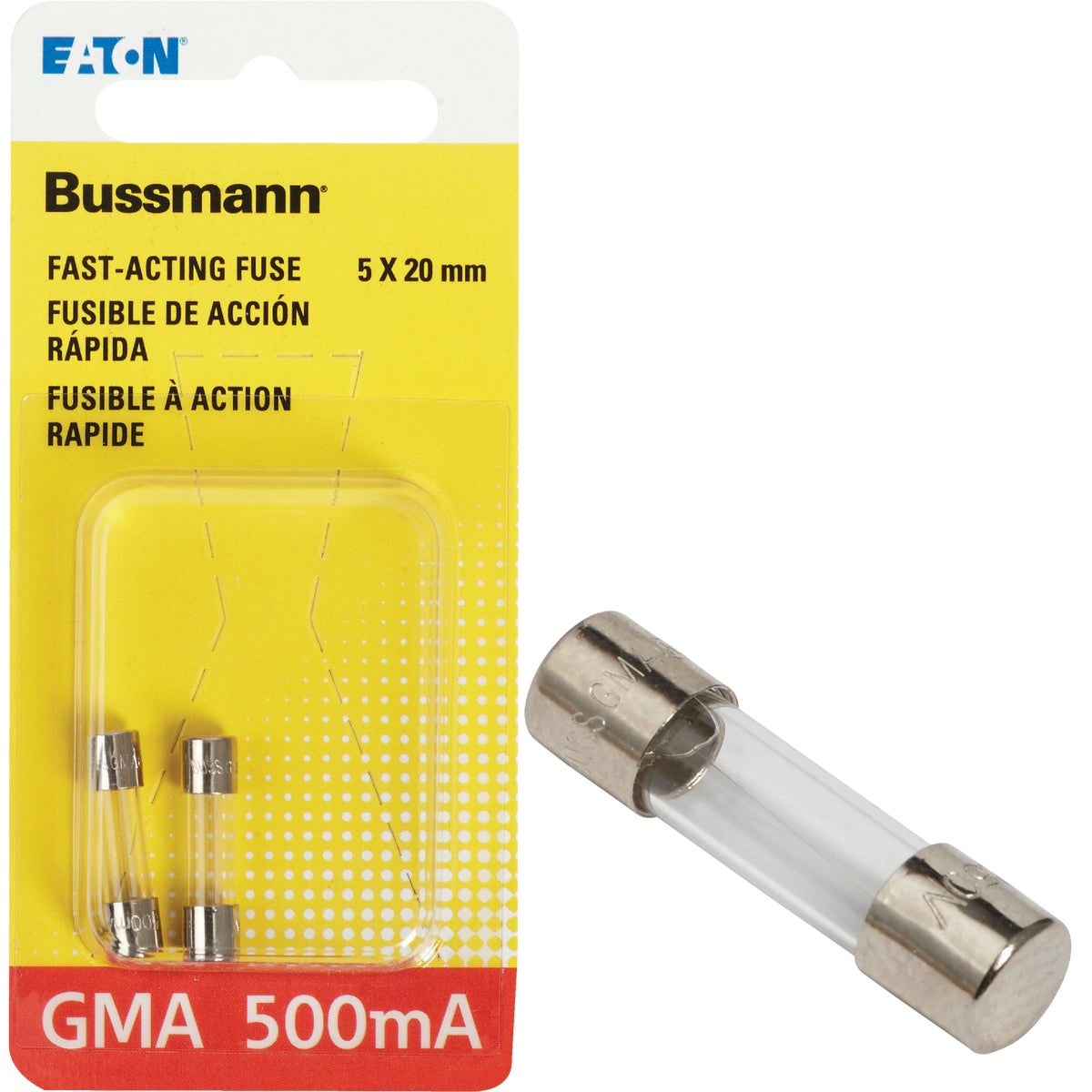 500MA FAST ACTING FUSE - BP/GMA-500MA by Bussmann Cooper