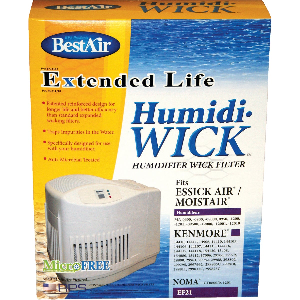 HUMIDIFIER WICK FILTER - EF21 by Rps Products Inc