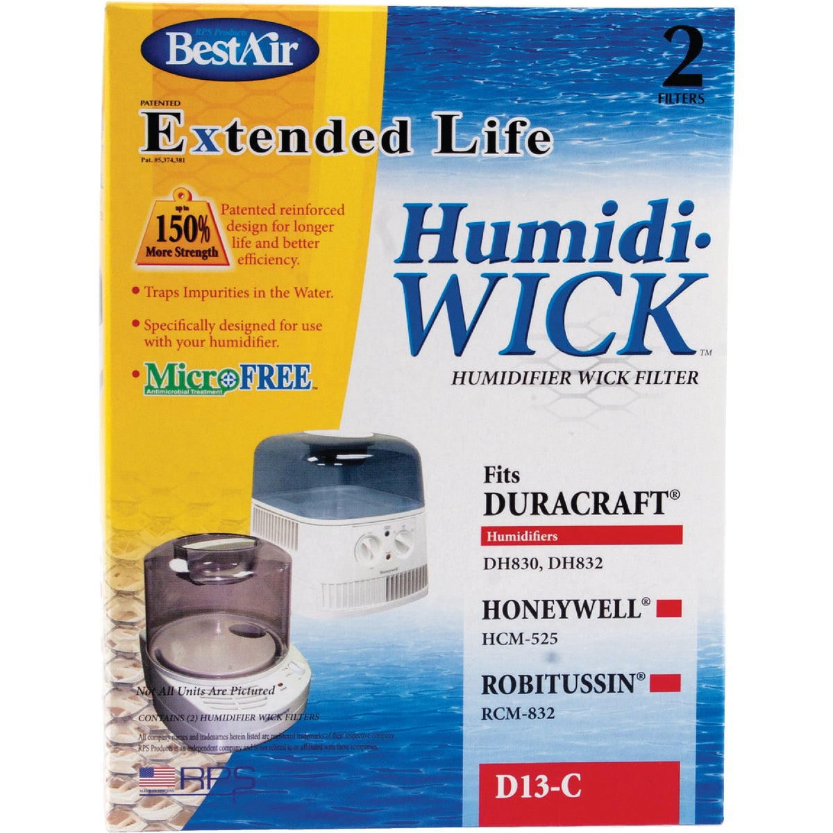 HUMIDIFIER WICK FILTER - D13 by Rps Products Inc