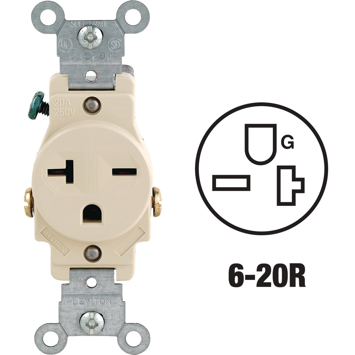 Leviton IV SINGLE OUTLET 5821ISP