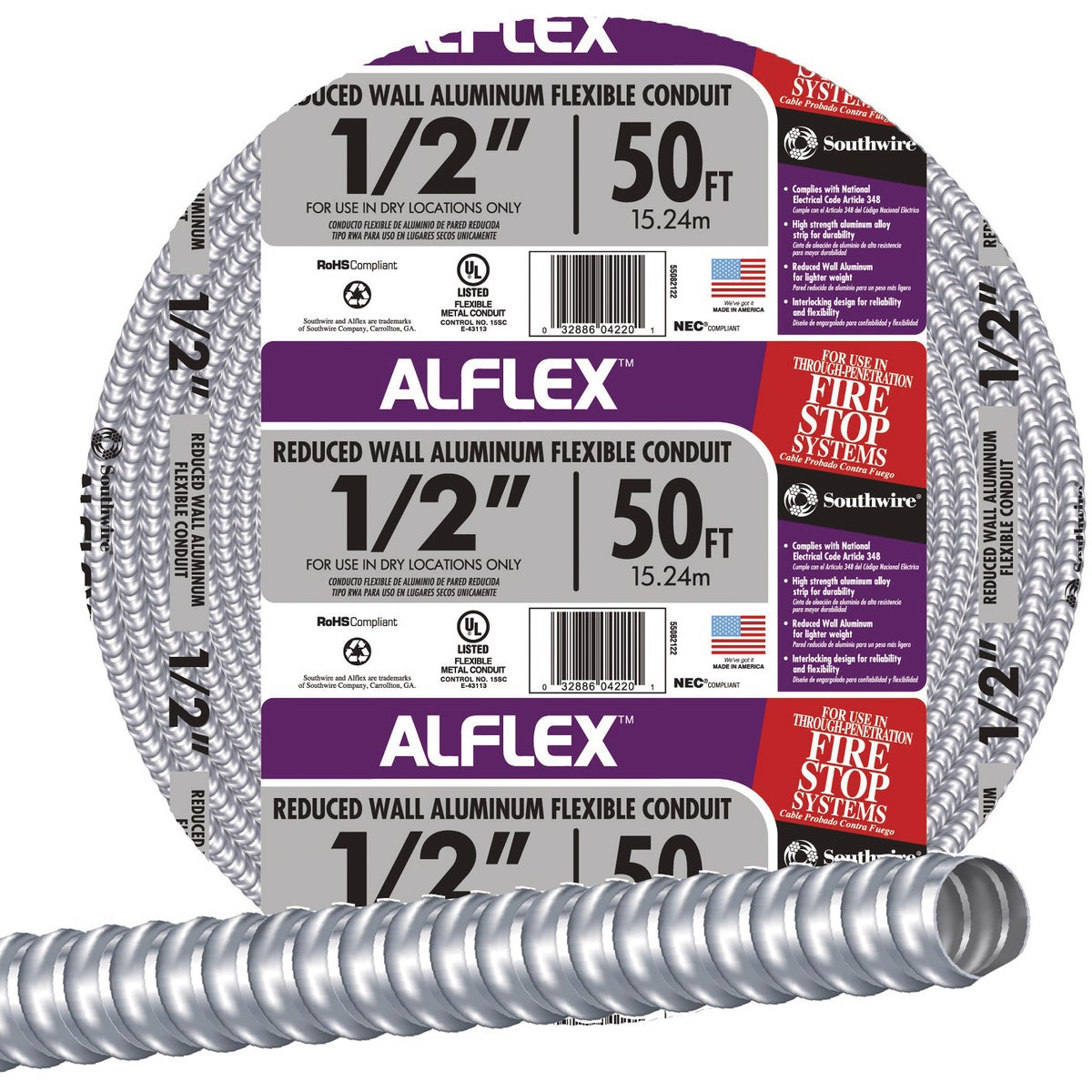 "100' 1/2"" FLEX CONDUIT"