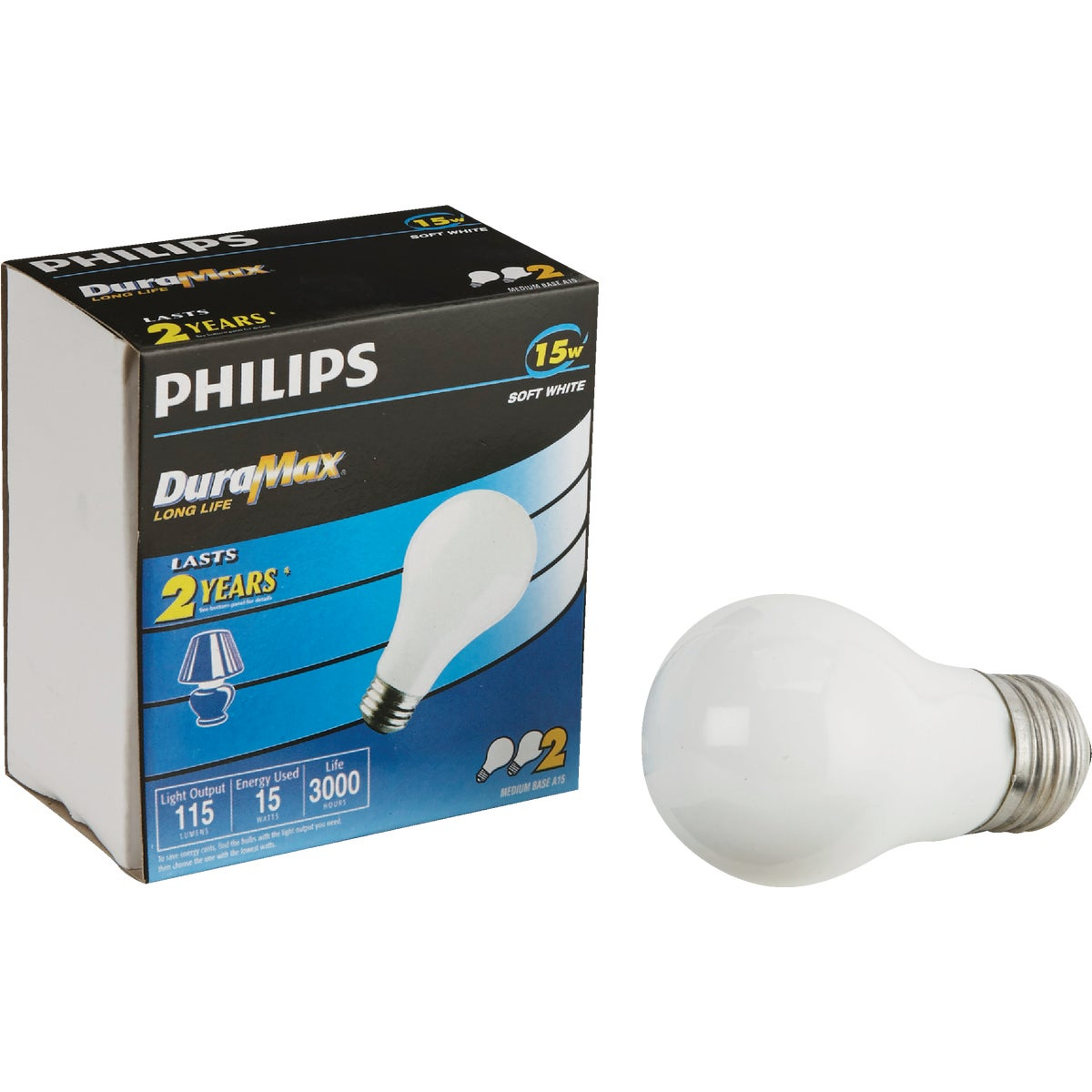 15W 2PK SW BULB - 97491 by G E Lighting