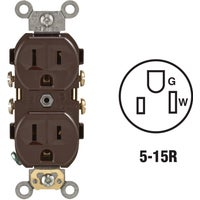 Leviton BRN DUPLEX OUTLET 5014SP