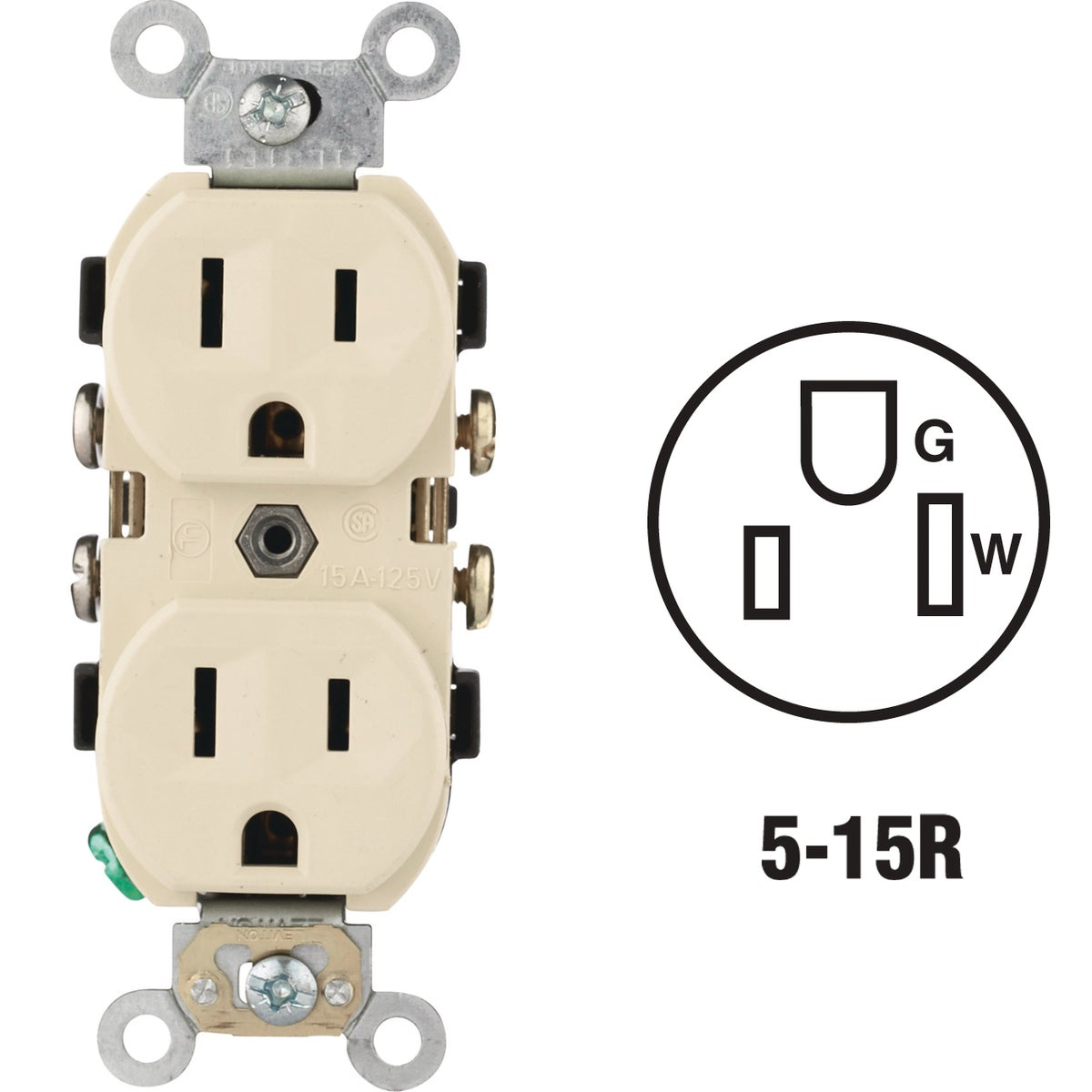 IV DUPLEX OUTLET - S01-CR15-0IS by Leviton Mfg Co