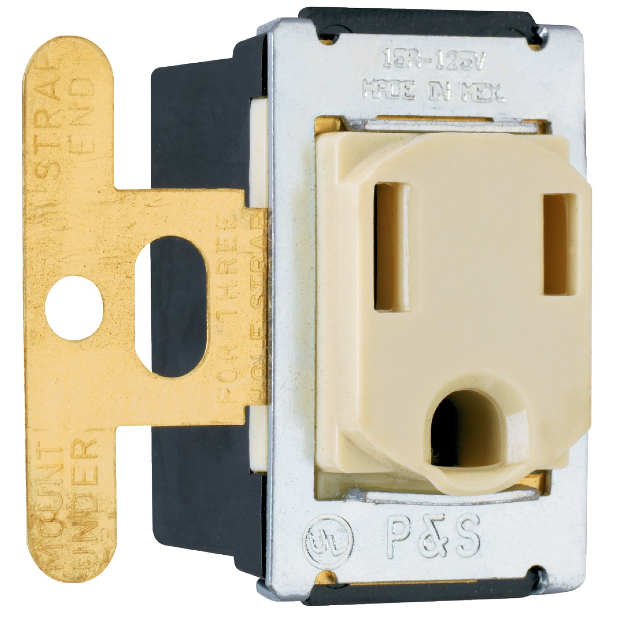 3-WIRE IV FLUSH OUTLET - 1432 by Pass Seymour Legrand