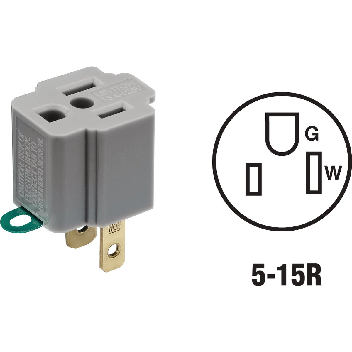 GRAY OUTLET ADAPTER - 028-274 by Leviton Mfg Co