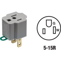 Leviton GRAY OUTLET ADAPTER 027-274