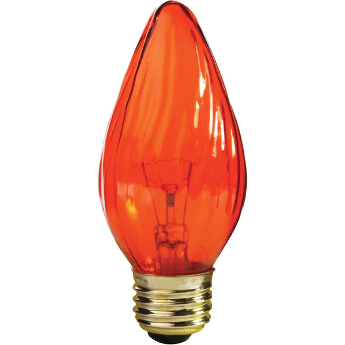 25W AMBER FLAME TIP BULB - 75339 by G E Lighting
