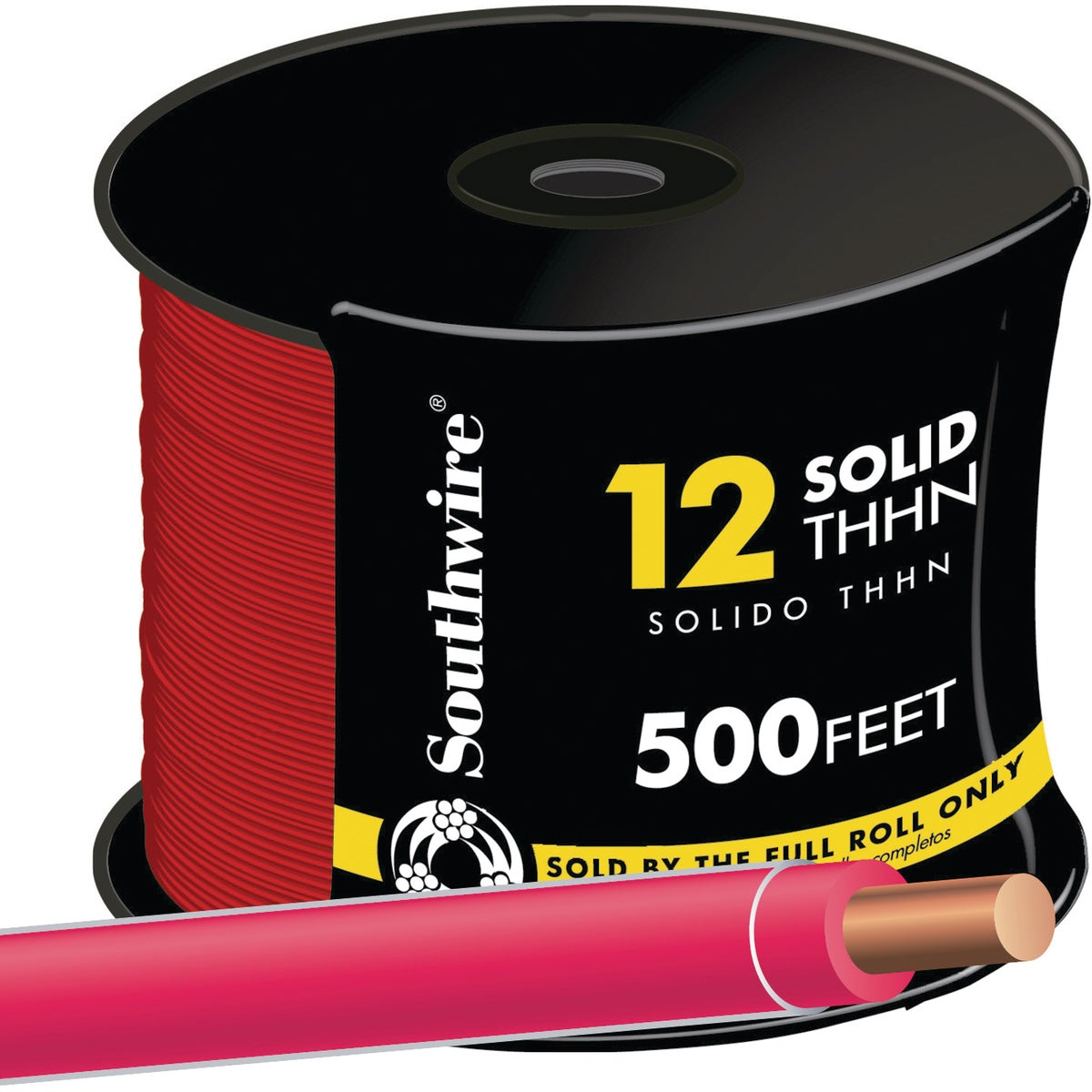Southwire 500' 12SOL RED THHN WIRE 11589957