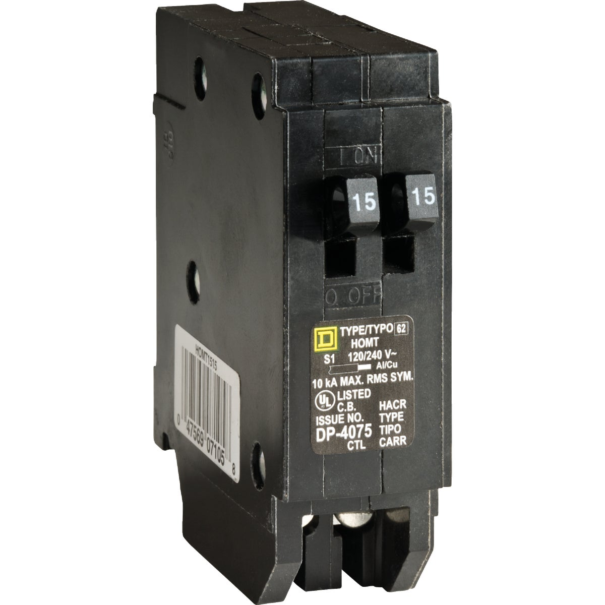 15A/15A TAND BREAKER - HOMT1515CP by Square D Co