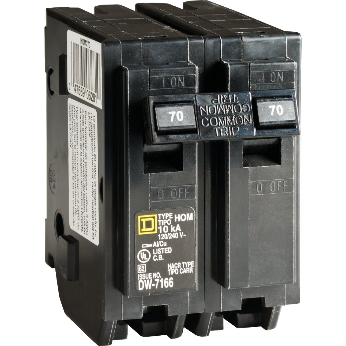 70A 2POLE BREAKER - HOM270CP by Square D Co