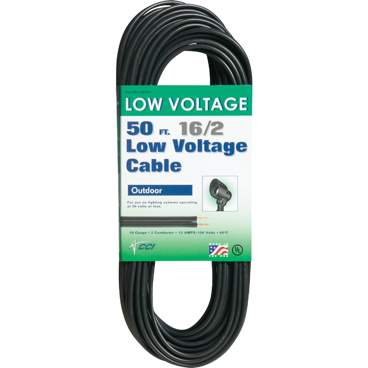 16/2 50' LOW VOLT CABLE - 09501-50-08 by Woods Wire Coleman
