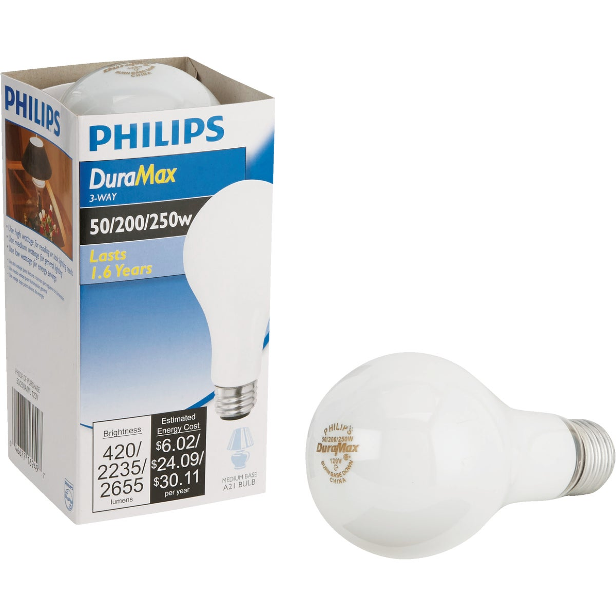 50/250W SW 3-WAY BULB - 97482 by G E Lighting