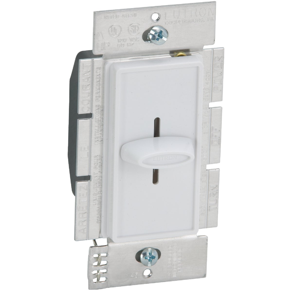 WHITE SLIDE DIMMER - S-600H-WH by Lutron Elect Co Inc