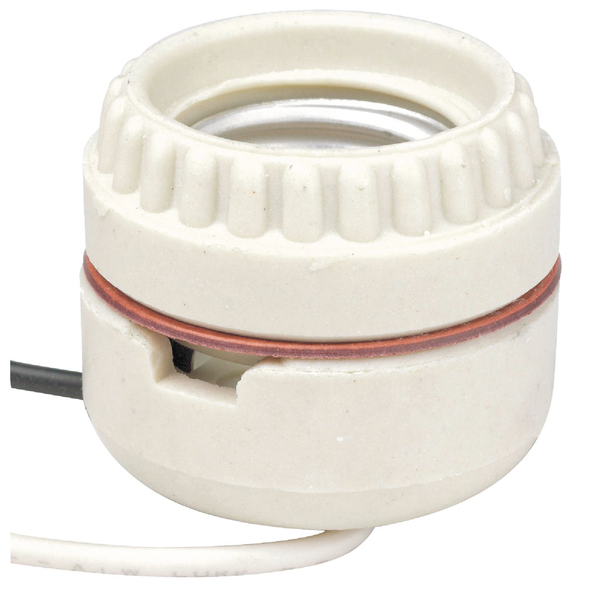 PORCELAIN SOCKET W/LEADS - 019-8101 by Leviton Mfg Co