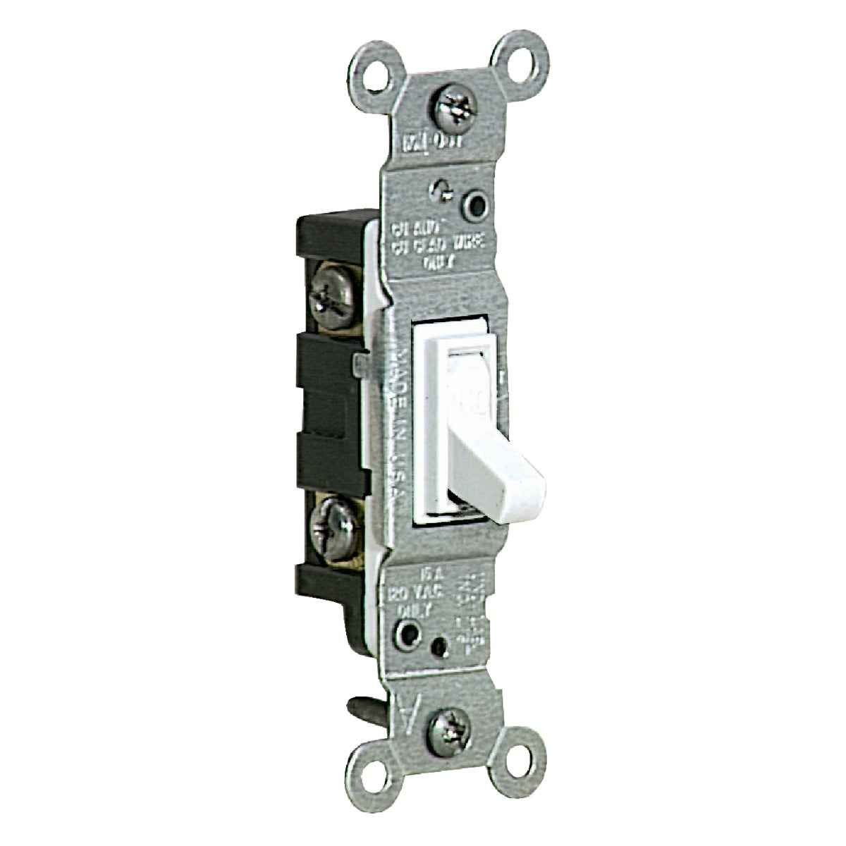 SGL POLE GROUNDED SWITCH - S02-1451-2WS by Leviton Mfg Co