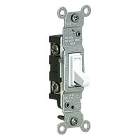 Leviton WHT 1POLE GRND SWITCH 105014512WS