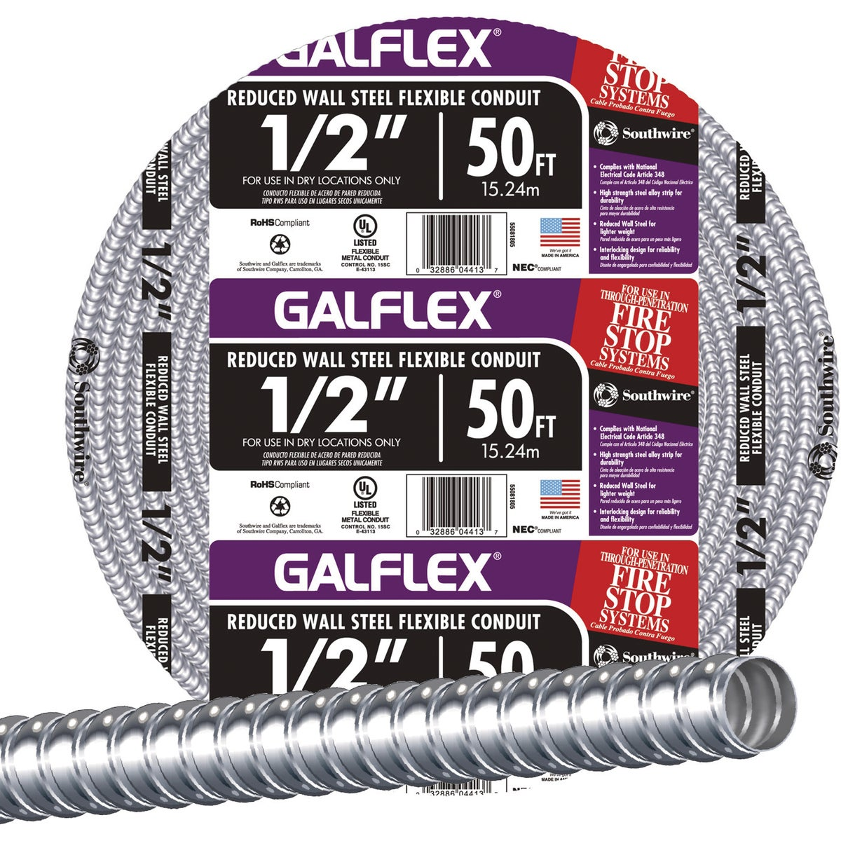 "50' 1/2"" FLEX CONDUIT - 55081805 by Southwire Company"