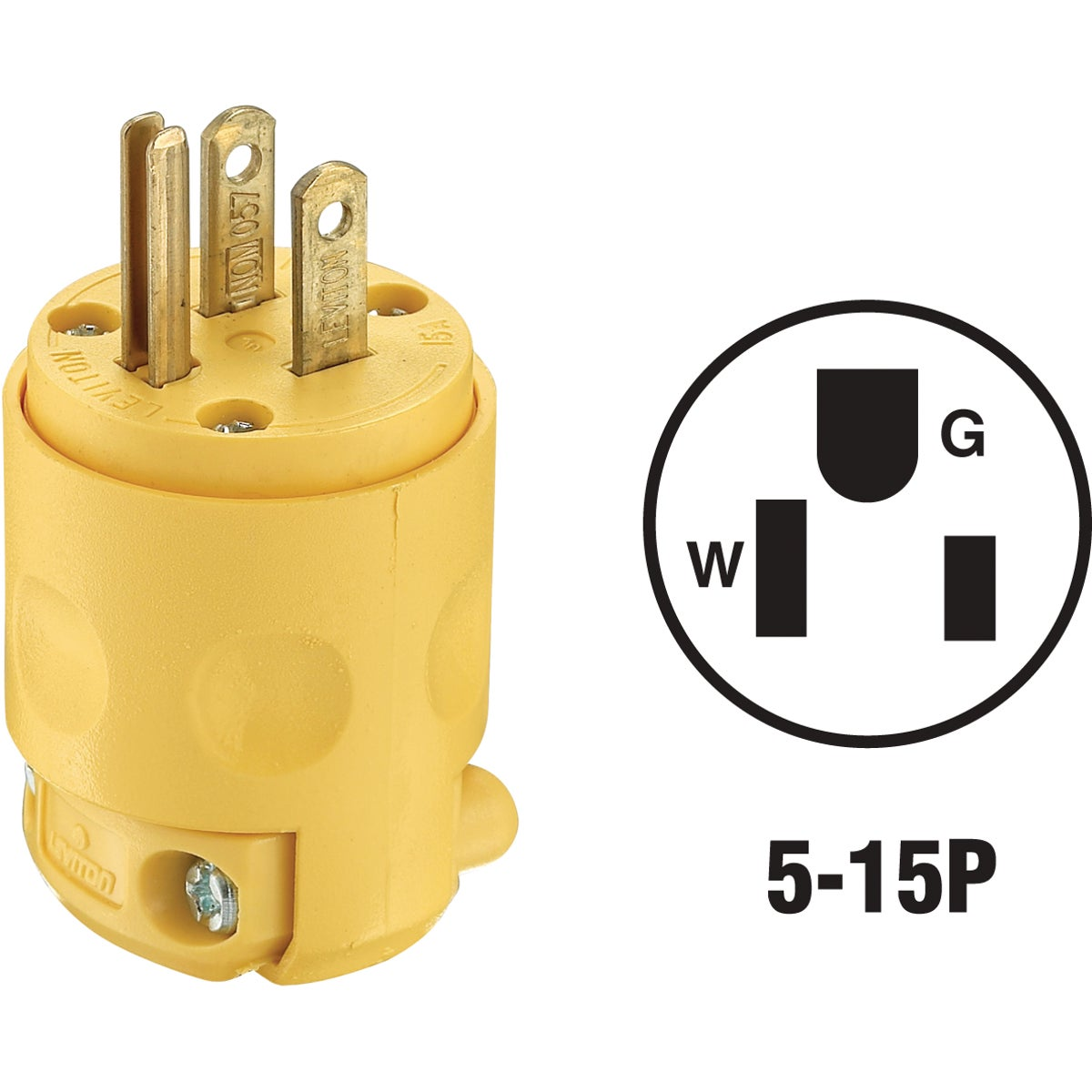 YEL GRND CORD PLUG - 870515PV by Leviton Mfg Co