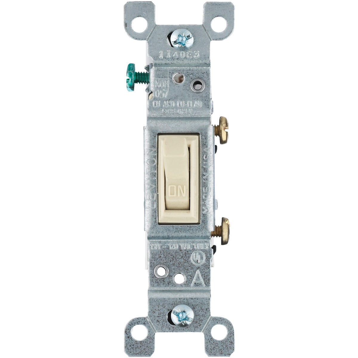 Ivory Ground Switch - 8771451-2I by Leviton Mfg Co