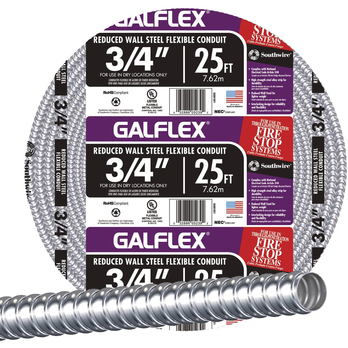"25' 3/4"" FLEX CONDUIT"