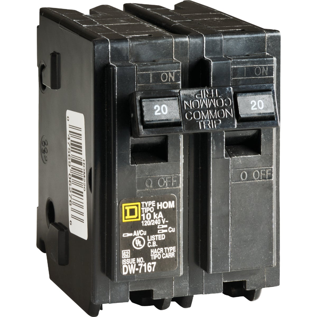 20A 2POLE BREAKER - HOM220C by Square D Co