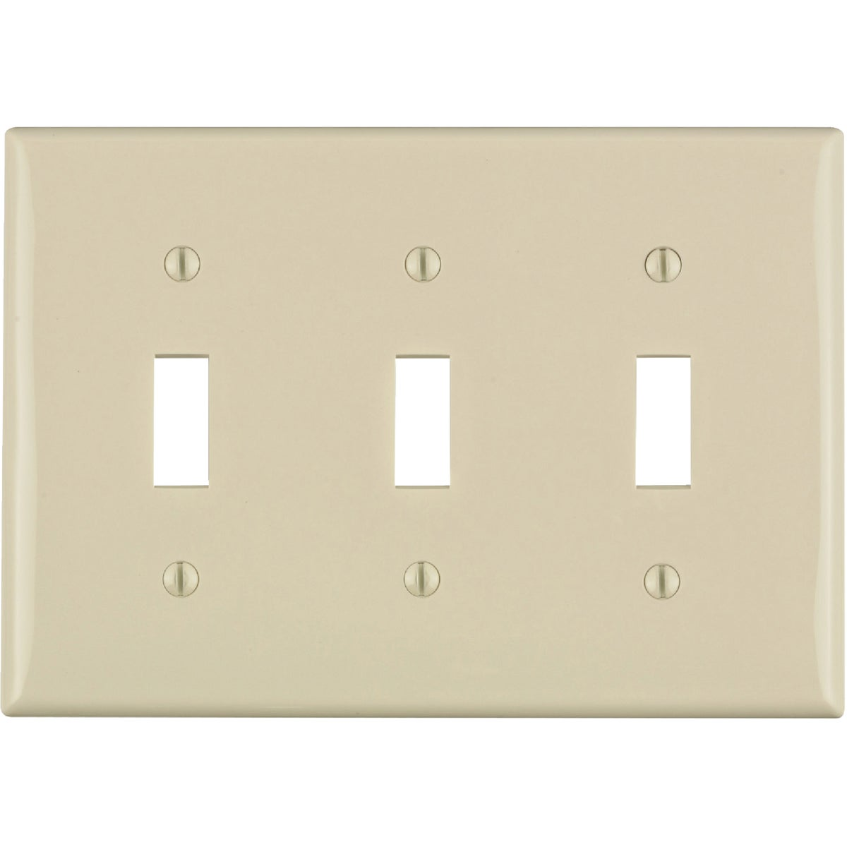 LT ALM 3TGL WALLPLATE - 011-80711-OOT by Leviton Mfg Co