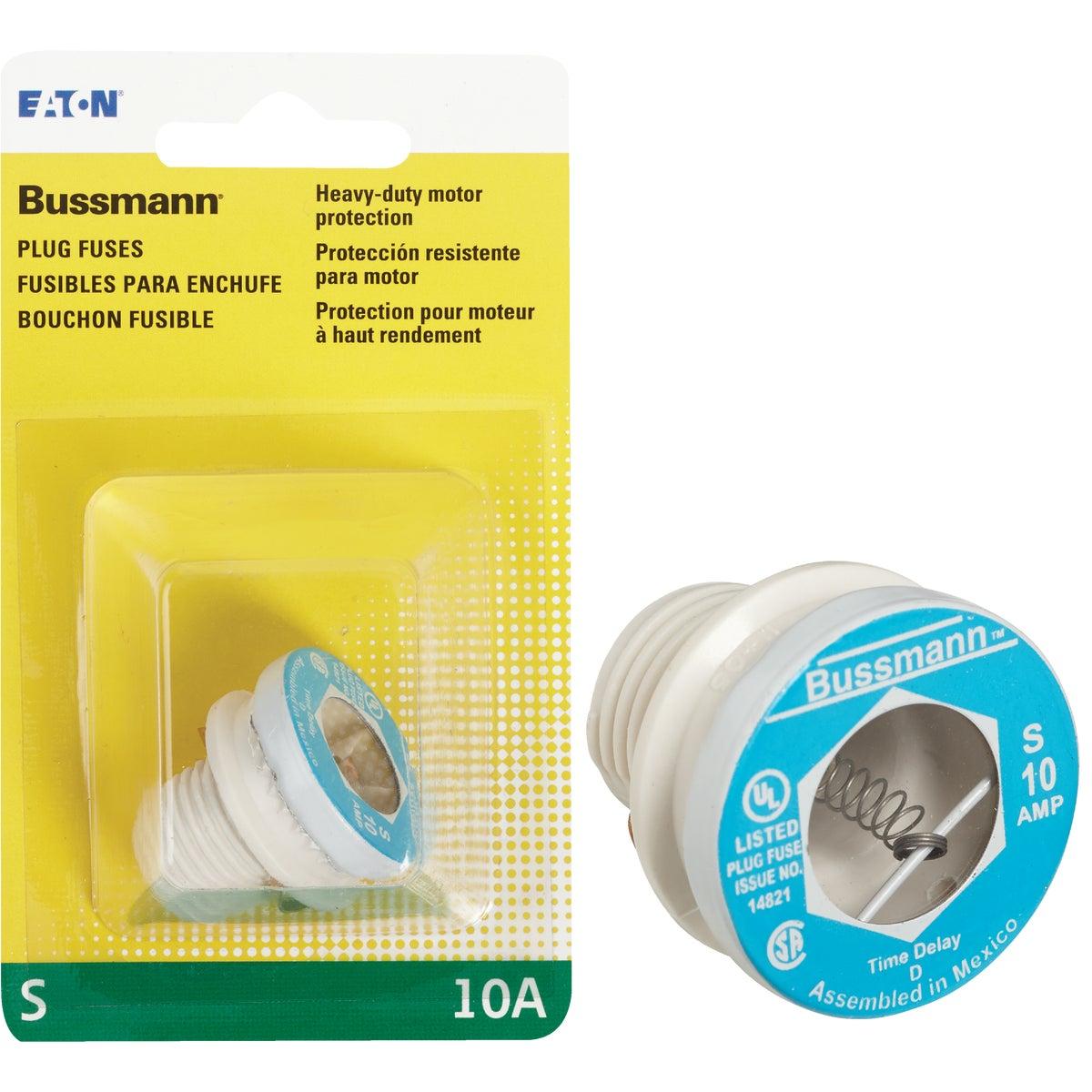 10A S SERIES PLUG FUSE - BP/S-10 by Bussmann Cooper