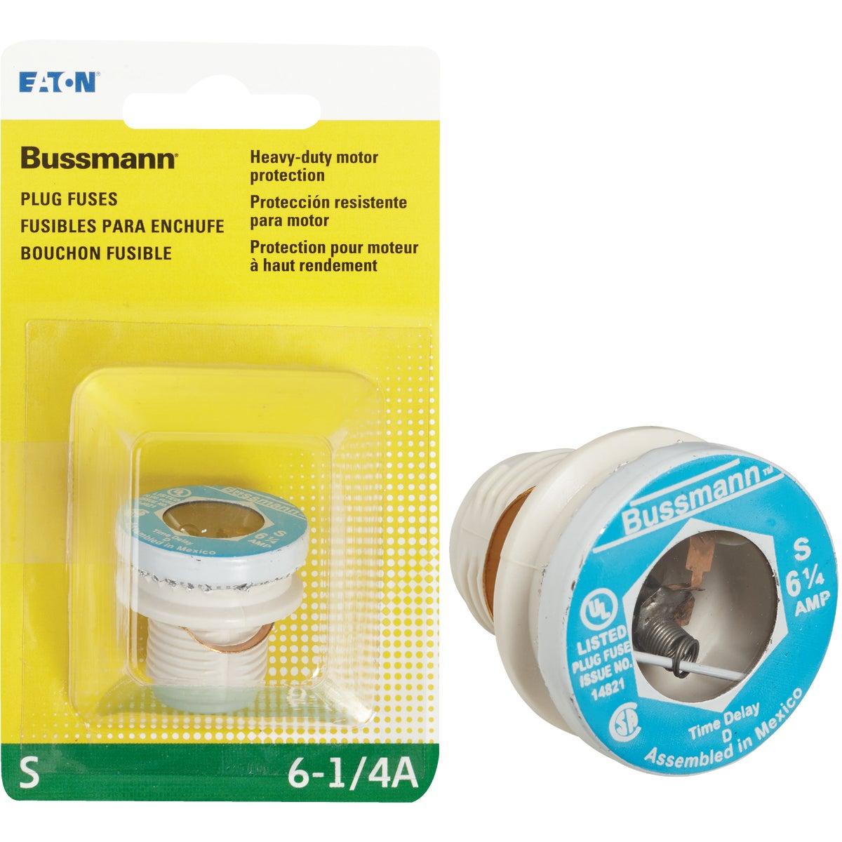 6-1/4A S PLUG FUSE - BP/S-6-1/4 by Bussmann Cooper