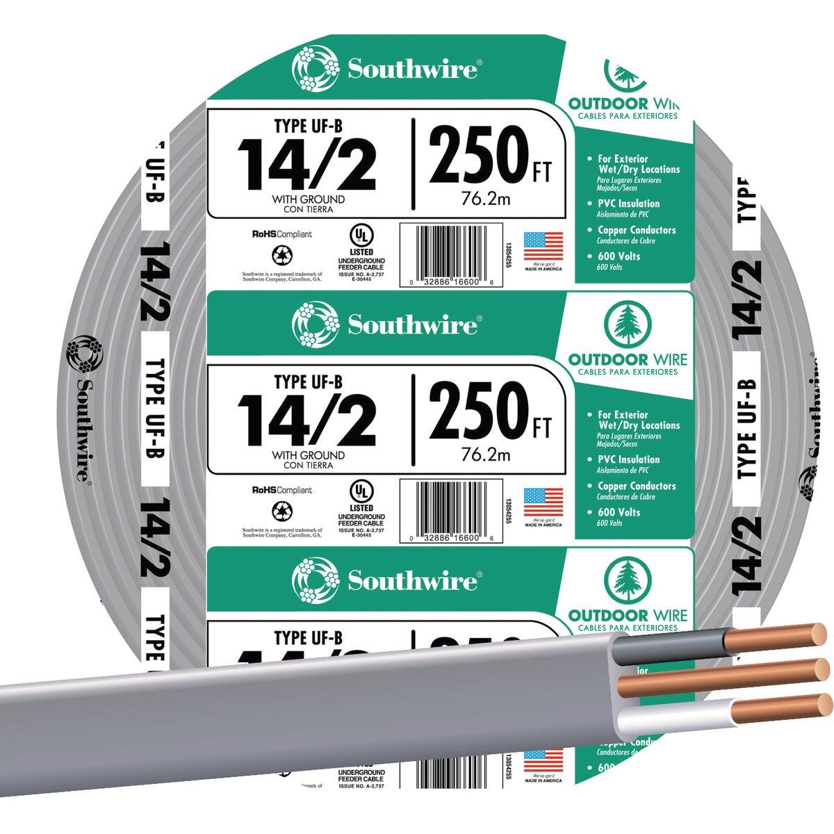 250' 14-2 Ufw/G Wire