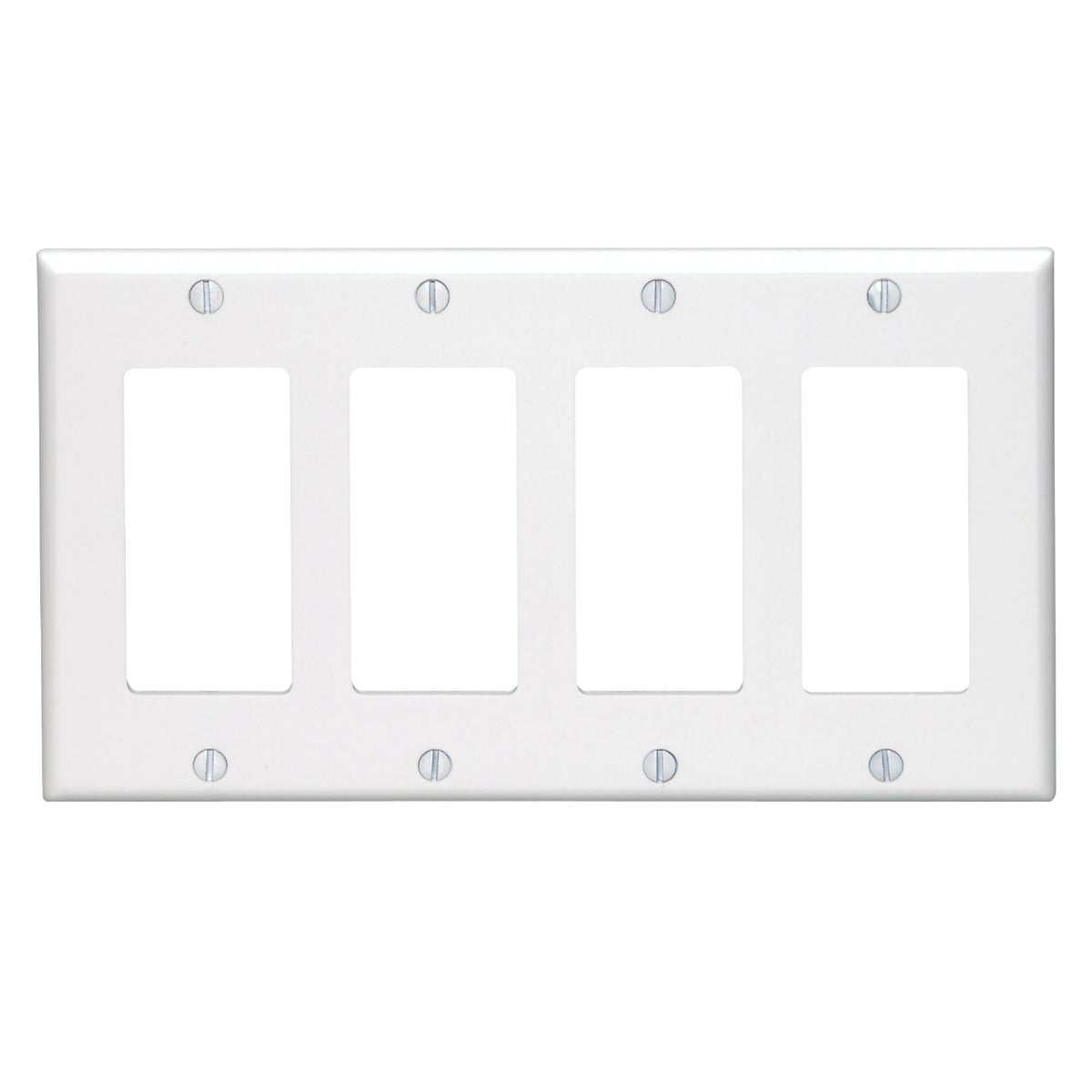 WHT 4-GFI WALL PLATE - 80412W by Leviton Mfg Co