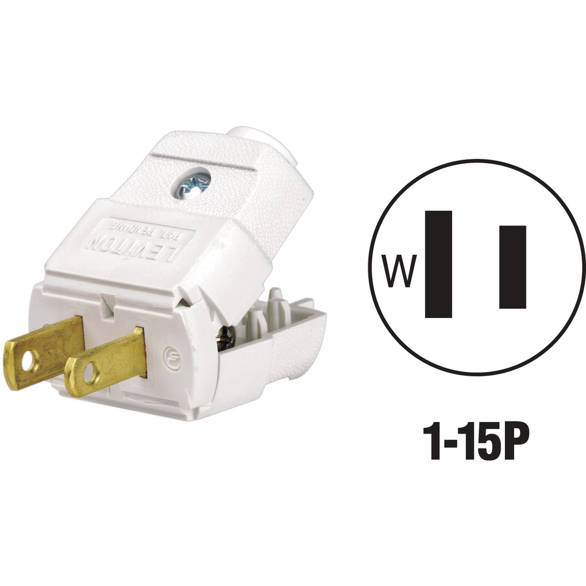WHT CORD PLUG - 016001010WP by Leviton Mfg Co