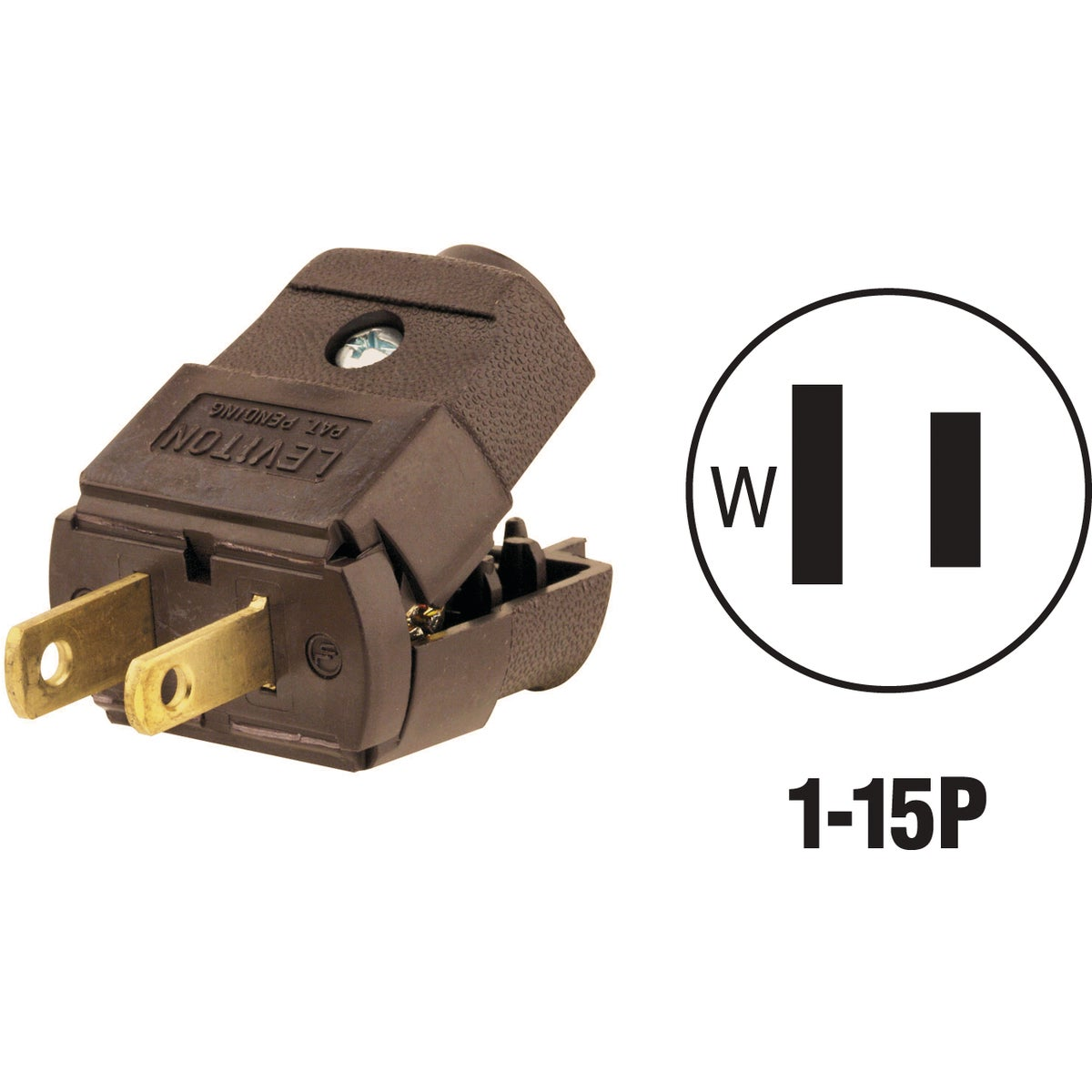 BRN CORD PLUG - 015-101P by Leviton Mfg Co