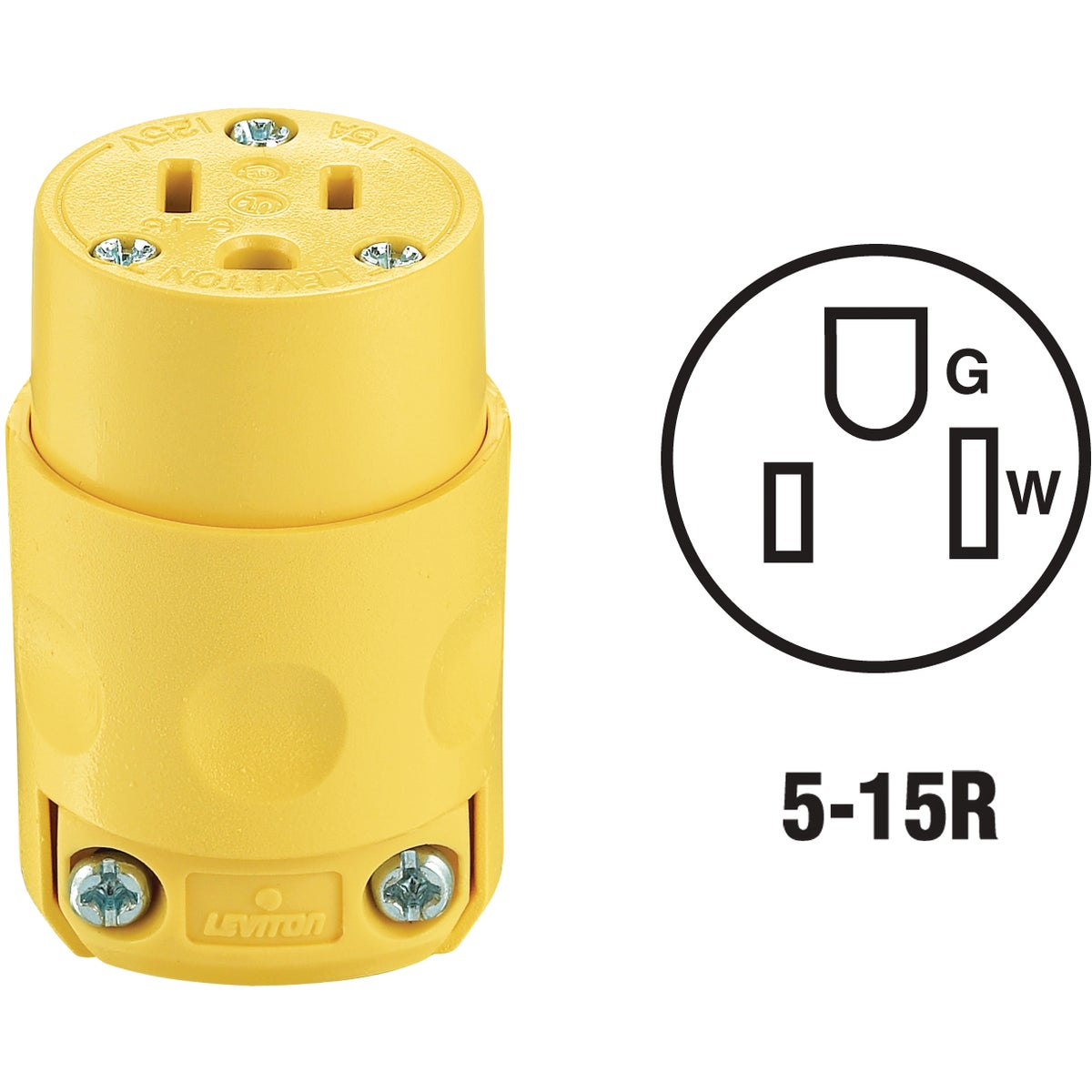 YEL GRND CORD CONNECTOR - 515CV by Leviton Mfg Co