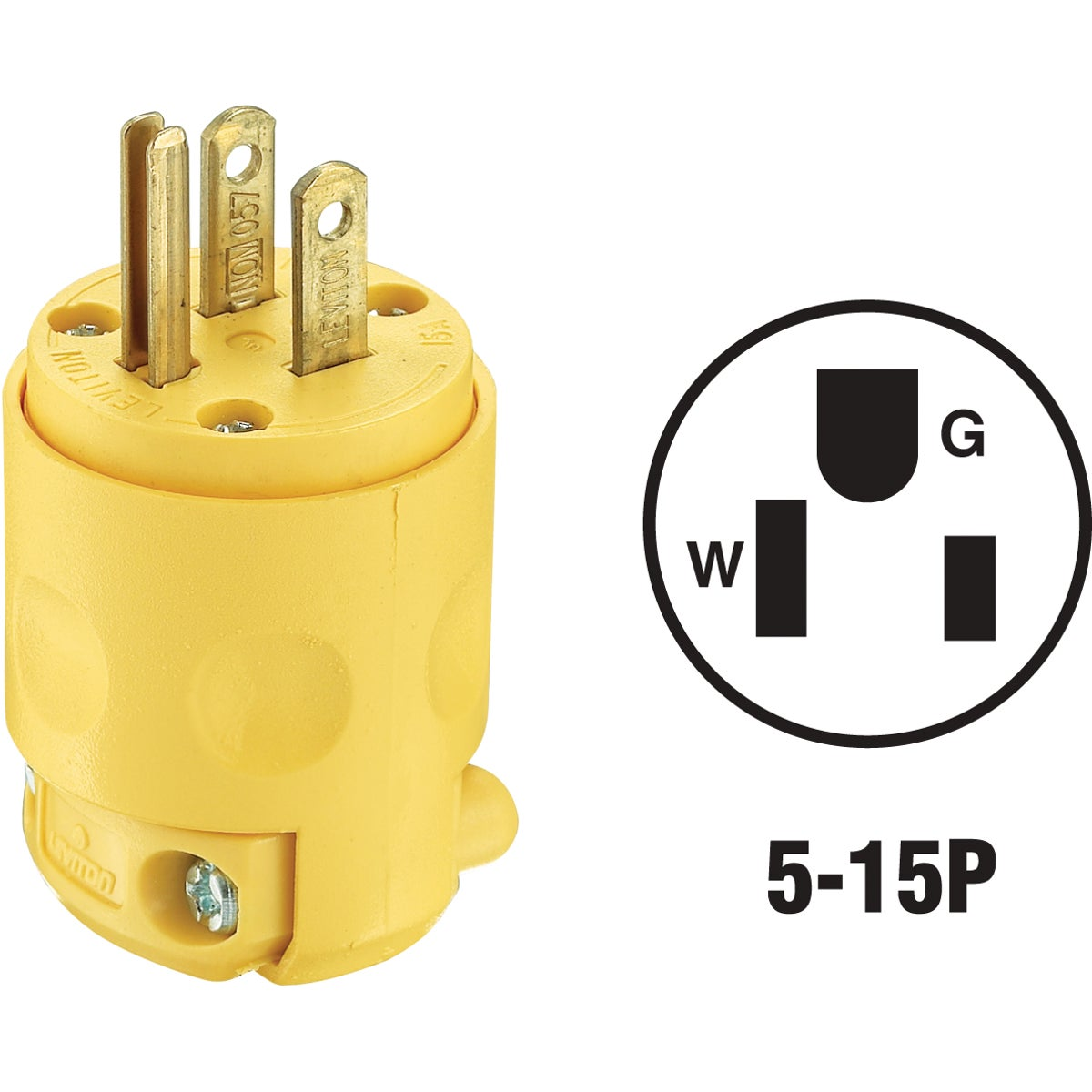 YEL GRND CORD PLUG - 515PV by Leviton Mfg Co