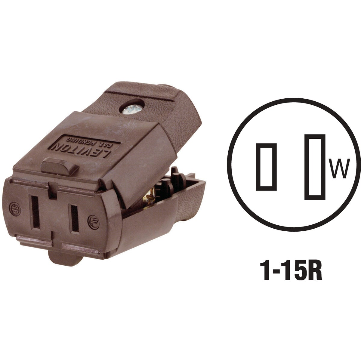 BRN CORD CONNECTOR - 0150010200P by Leviton Mfg Co