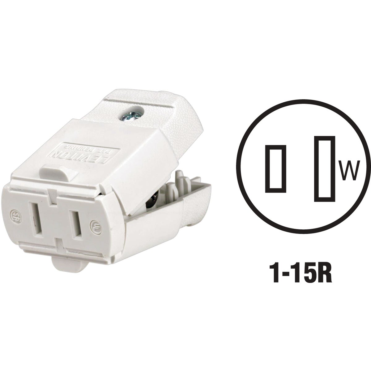 WHT CORD CONNECTOR - 016102WP by Leviton Mfg Co