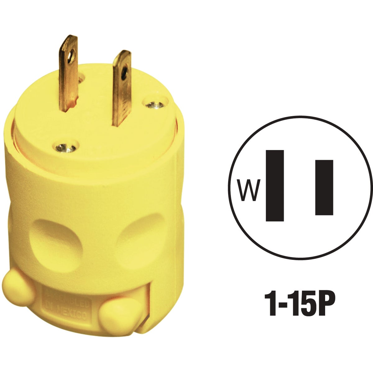 YEL CORD PLUG - 115PV by Leviton Mfg Co