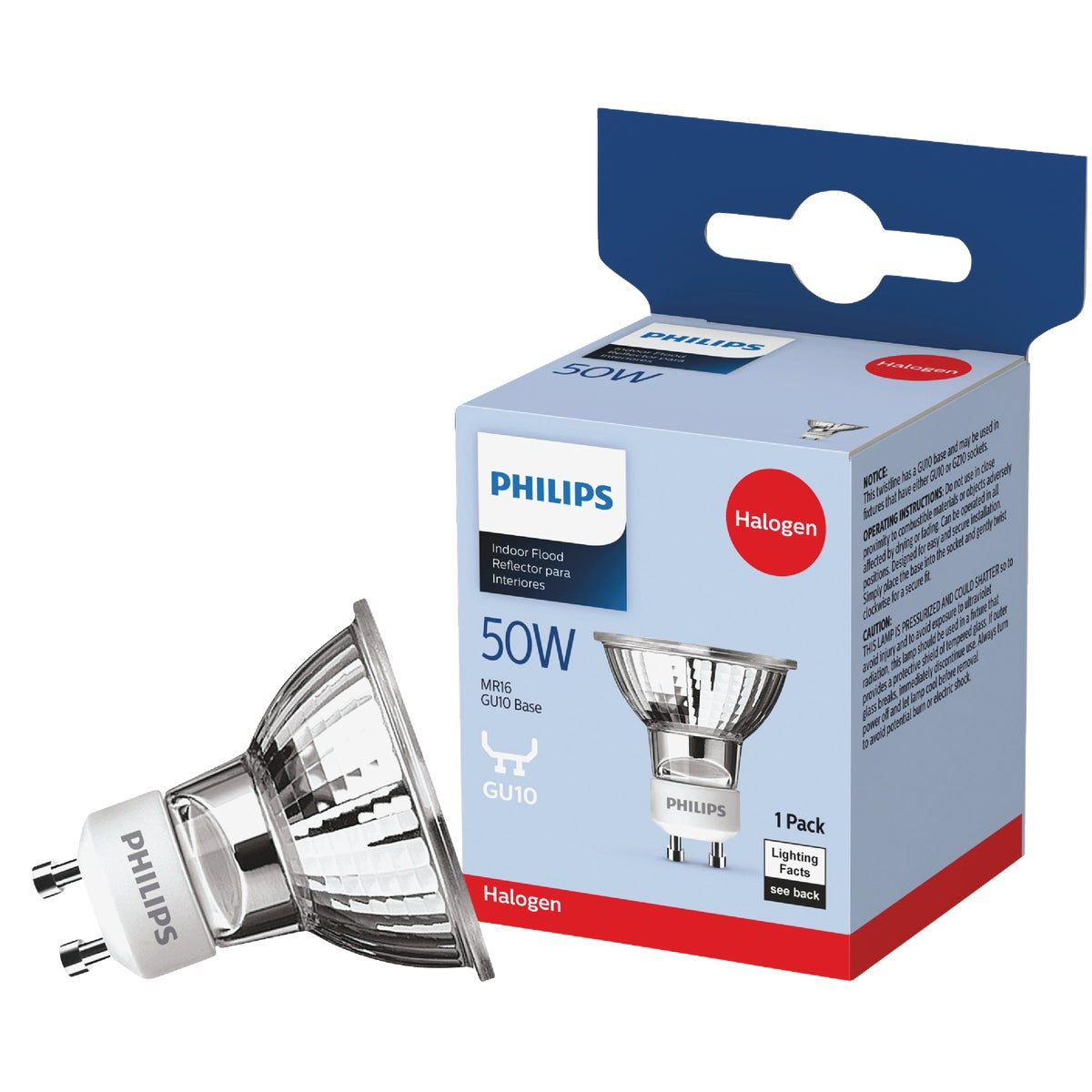 MR16 HALOGEN BULB - 16751 Q50GU10/FL/CD by G E Lighting