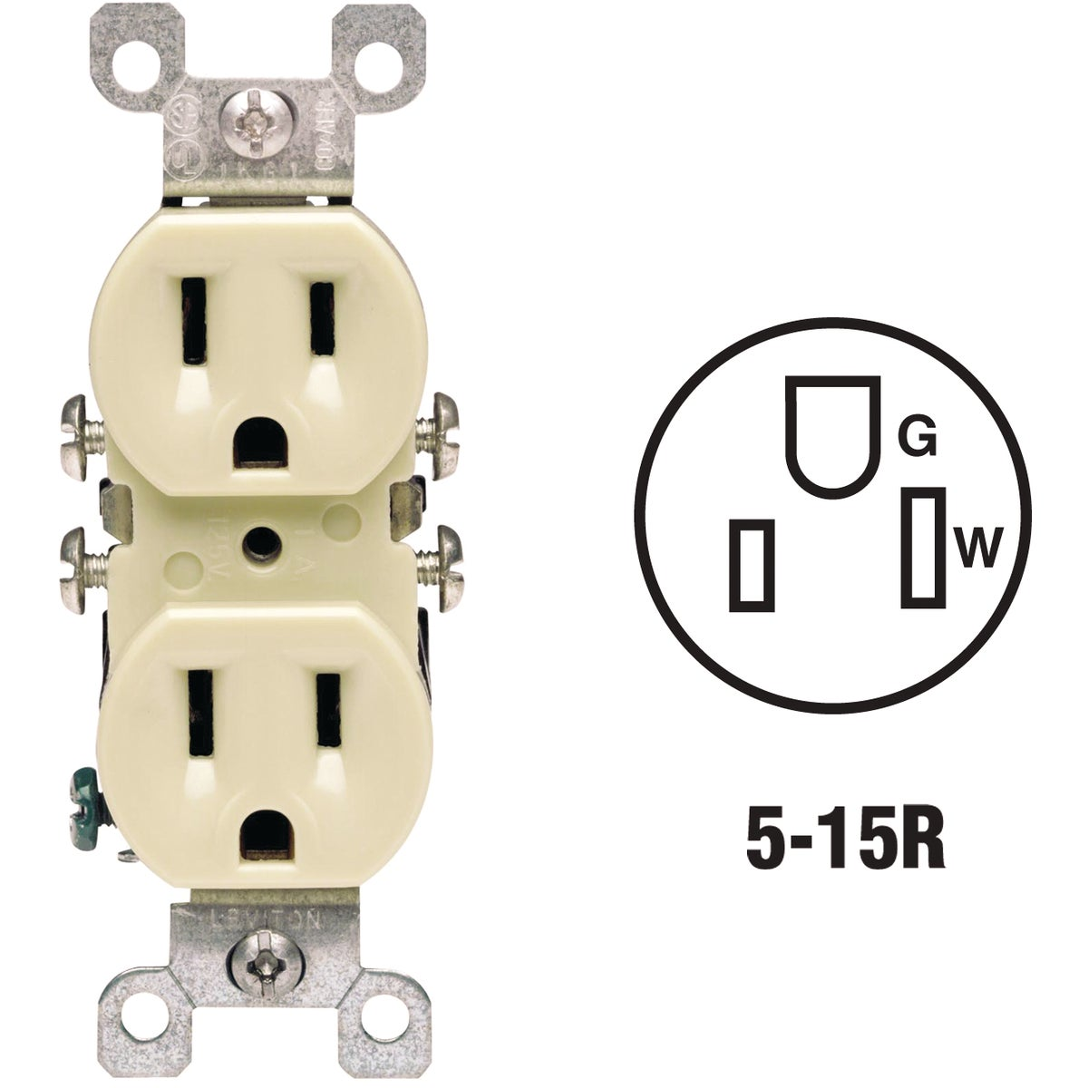 IV COPPER/ALUM OUTLET - 12650I by Leviton Mfg Co
