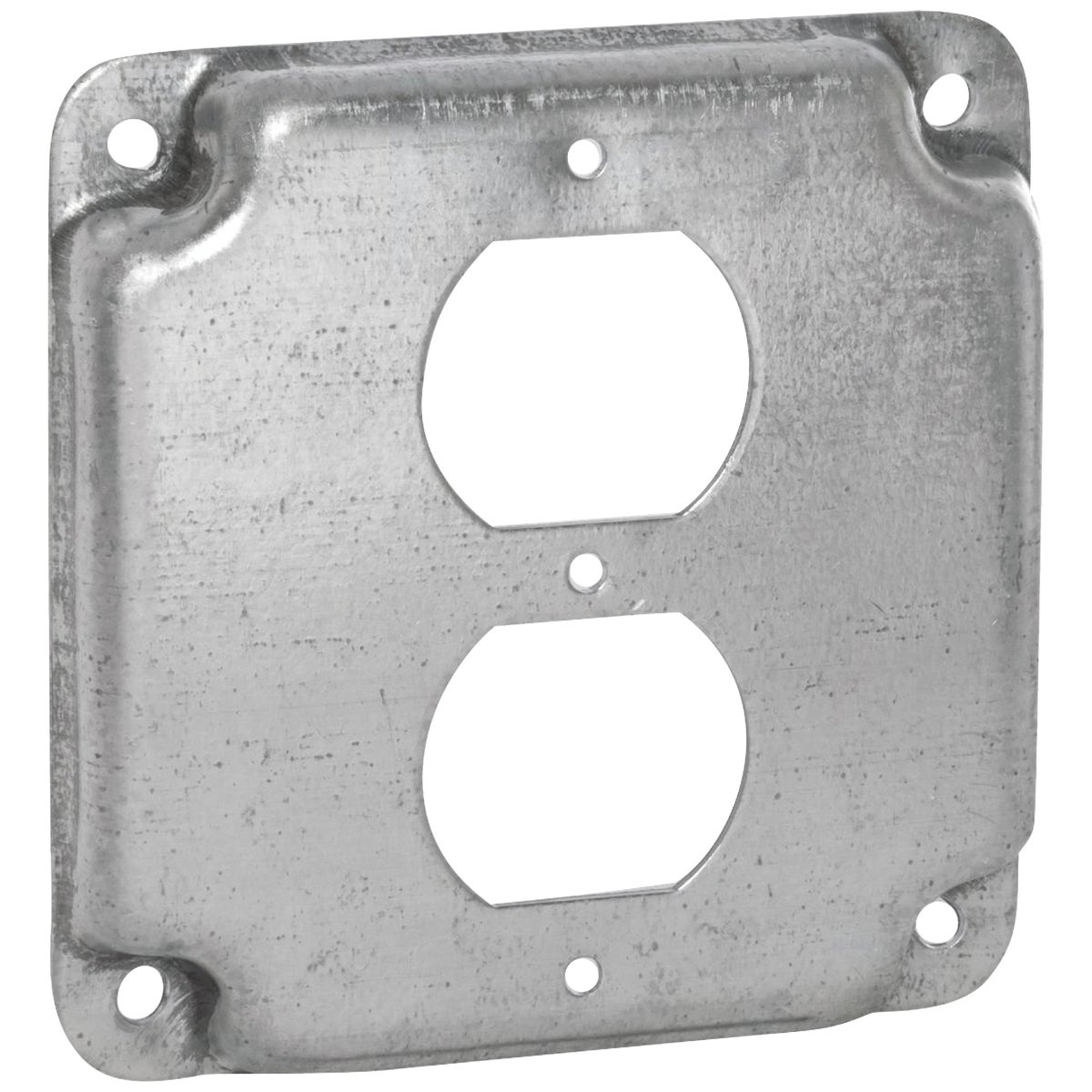"4"" SQ 2-OUTLET BOX COVER - RS1230 by Thomas & Betts"
