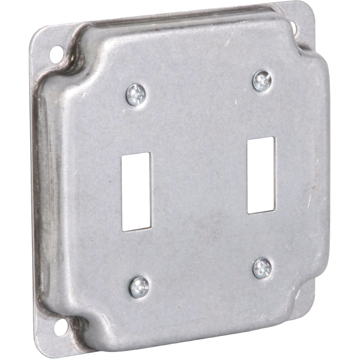 "4"" SQ 2-SWITCH BOX COVER"
