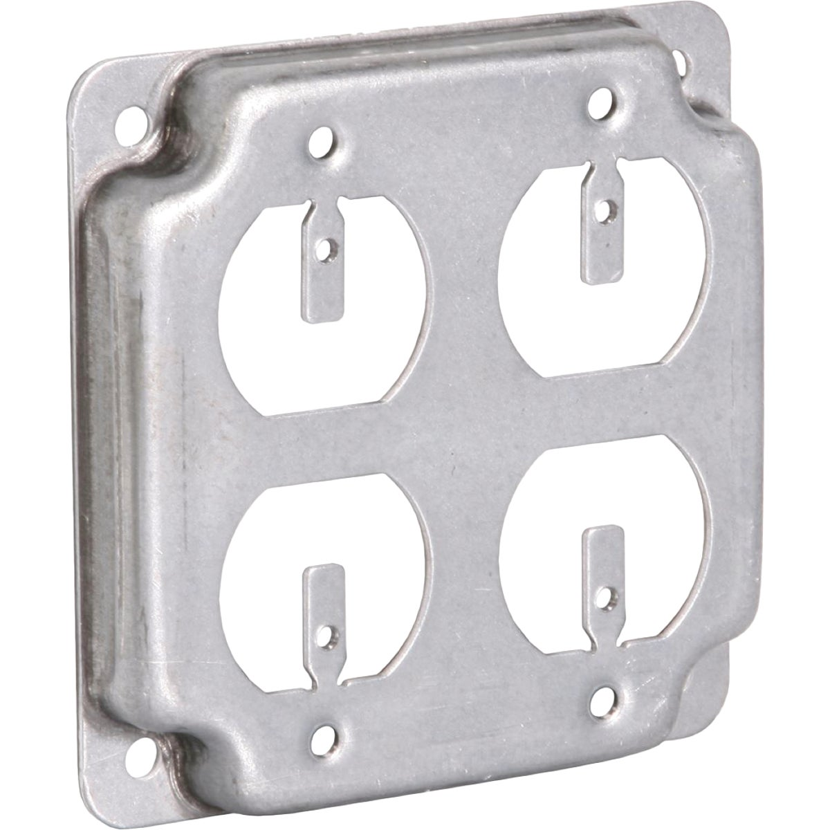 "4"" SQ 4-OUTLET BOX COVER - RS830 by Thomas & Betts"
