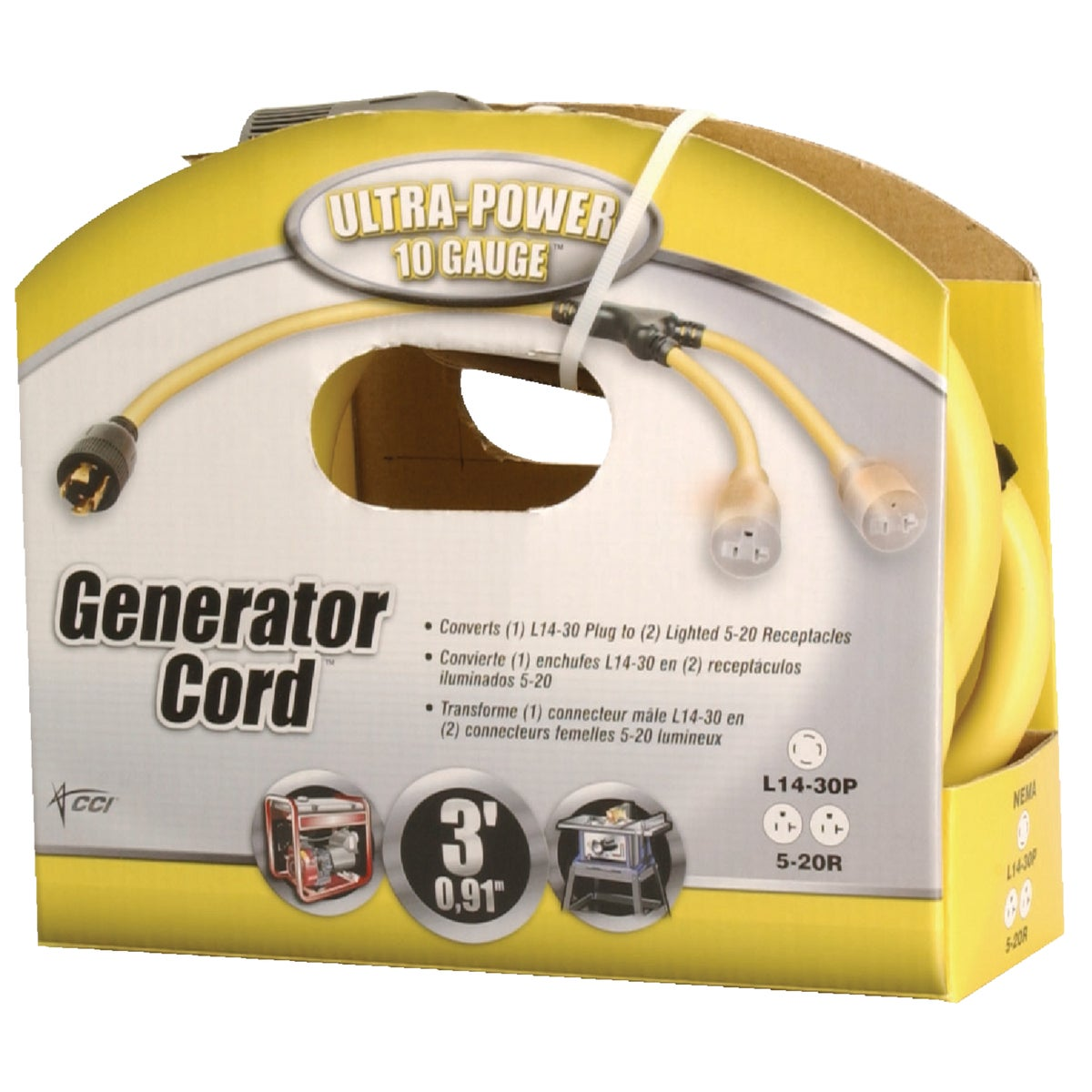 3' 10/4 GENERATOR CORD - 01934-88-02 by Woods Wire Coleman