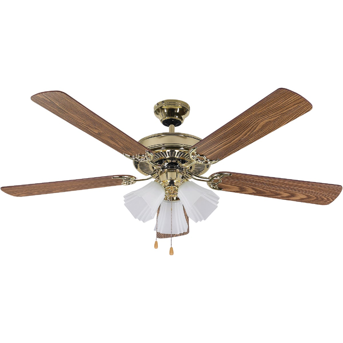 "52"" SHERWOOD PB CEIL FAN - CF52SHB5PB by Canarm Gs"