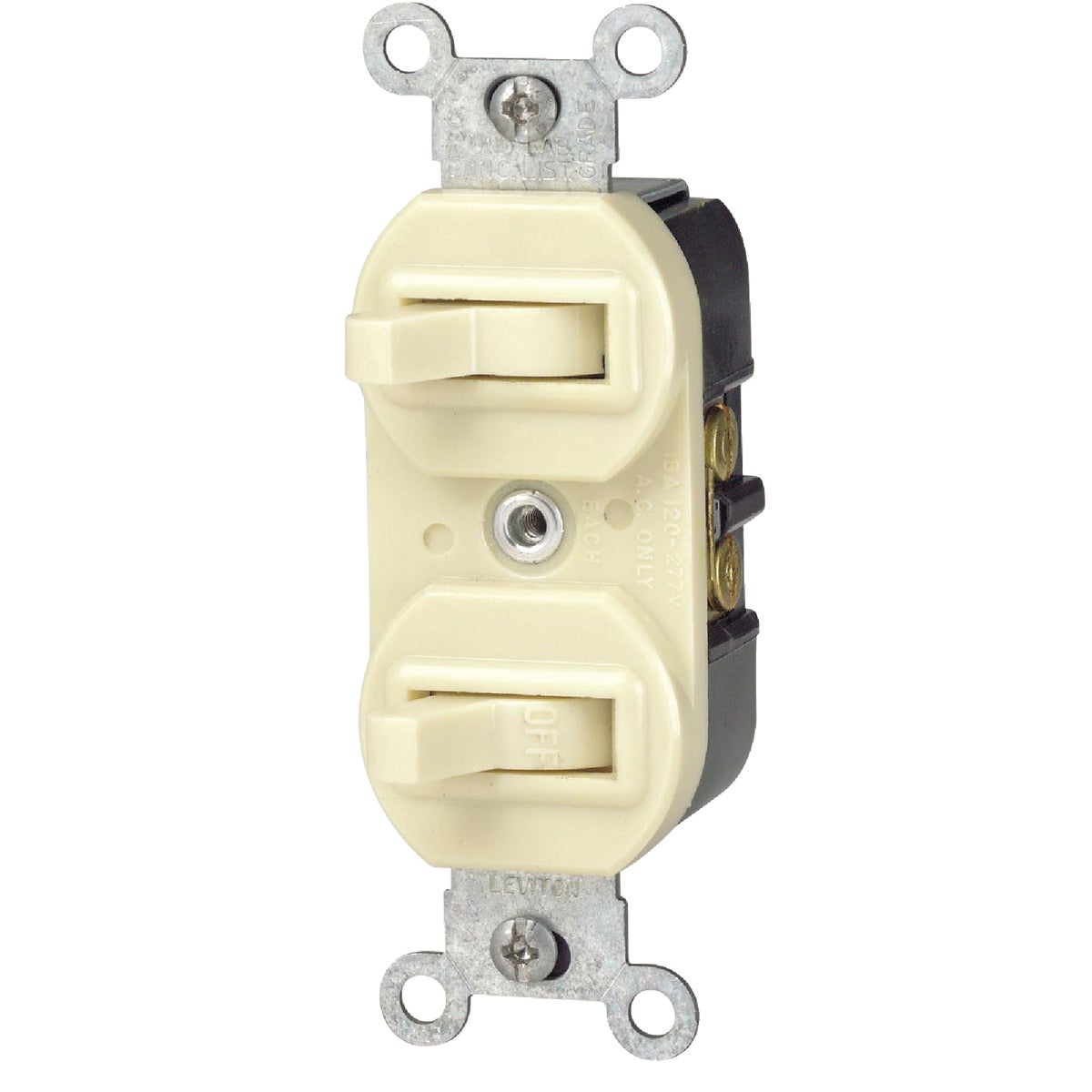 IVORY DUPLEX SWITCH - R61-5241-IS by Leviton Mfg Co