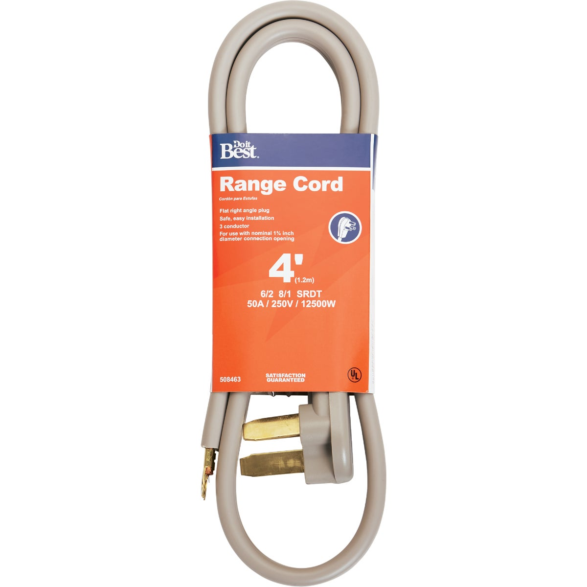 4' 50A RANGE CORD - 550984 by Coleman Cable Hwg