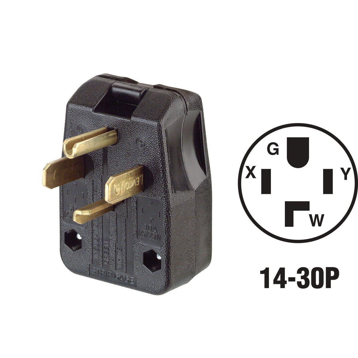30/50A 4-WIRE PLUG - 200-00275-00T by Leviton Mfg Co