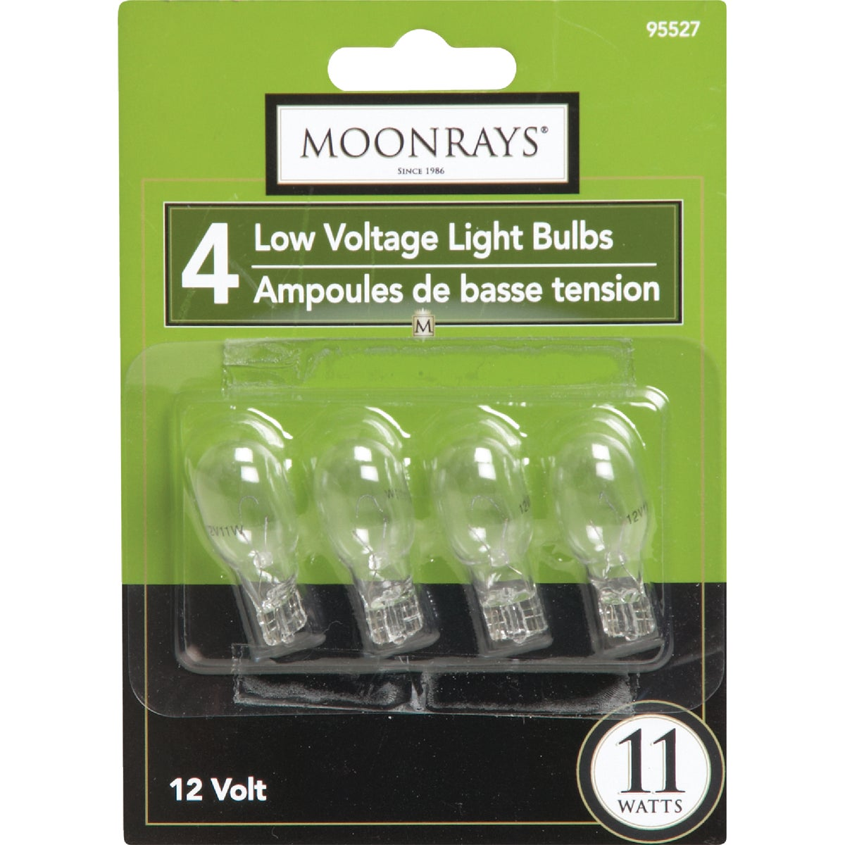 11W 4PK CLEAR BULB - 95527 by Woods Wire Coleman